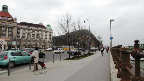 4 K Budapest Hungary Winter Timelapse Stock Video Footage