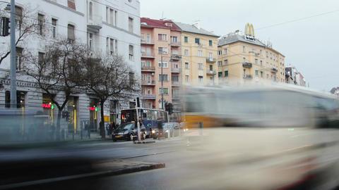 4 K Getting Dark Budapest Hungary Winter Timelapse 1 Stock Video Footage