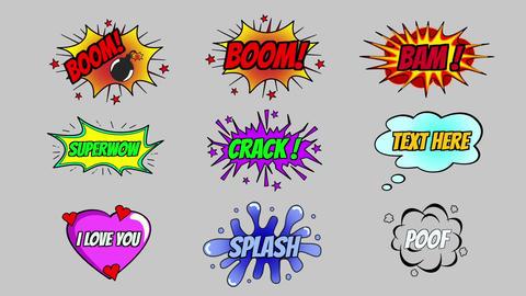 Cartoon Tiltes and Bubbles