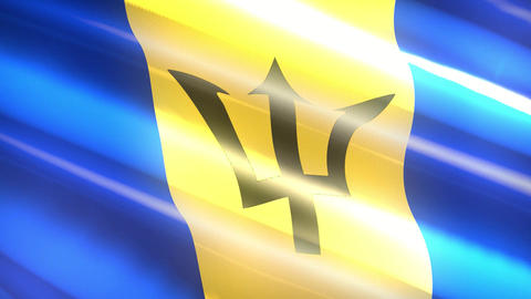 Barbados holiday flag - loop animation Animation