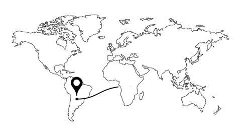 World map travel pin. laid route on the map. travel around the world video Live Action