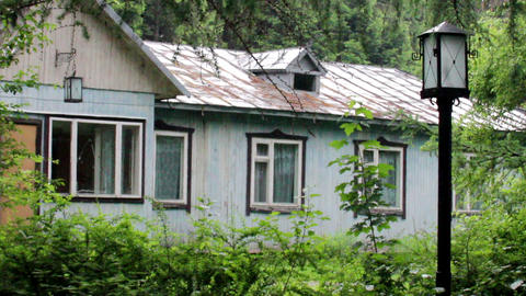 abandoned wooden house Footage