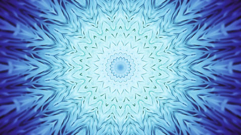 Soft Blue Radial Kaleidoscopic Abstract Background Animation