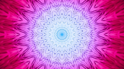 Soft Colorful Radial Kaleidoscopic Abstract Background Animation