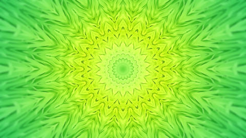 Soft Green Radial Kaleidoscopic Abstract Background Animation