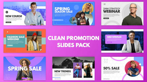 Clean Promotion Slides Pack After Effects Template