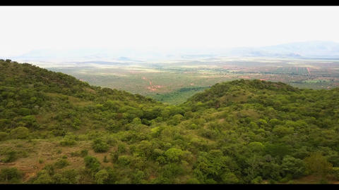 Beautiful scenic view of Kenyan Highlands aerial Live Action