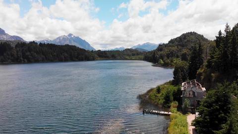 Beautiful scenic view of Nahuel Huapi Lake in Patagonia Argentina Live Action