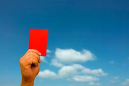 Red Card ภาพถ่าย