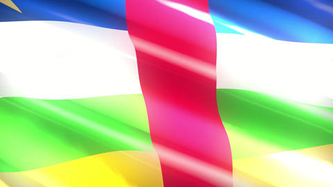 Democratic Republic of Congo holiday flag - loop animation Animation
