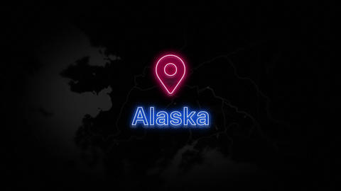 Alaska State of the United States of America Animation