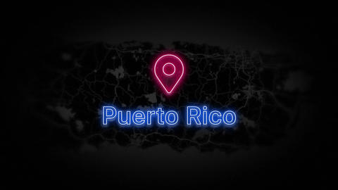 Puerto Rico State of the United States of America Animation