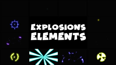 Energy Explosions Apple Motion Template