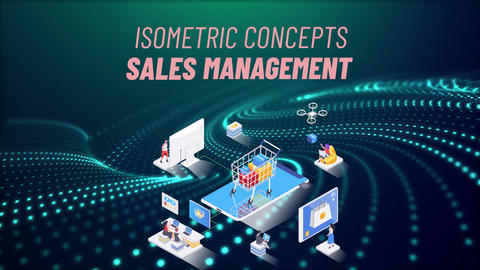 Sales management - Isometric Concept After Effects Template