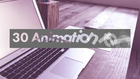自動サイズ調整されるアニメーションテロップ30個セット