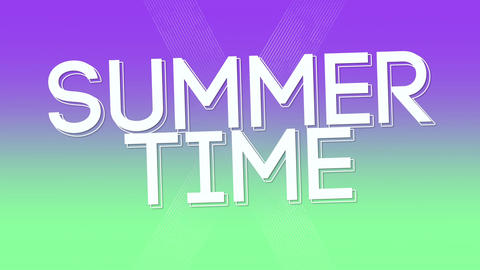 Animated text Summer Time with gradient summer background Animation