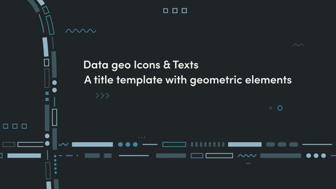 DataGeoIcons&Texts After Effects Template
