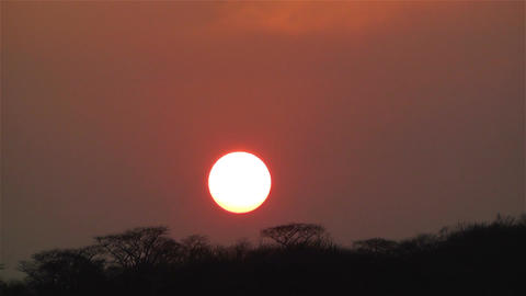 African Sunset over Jungle in Dry Season Timelapse 2 Footage