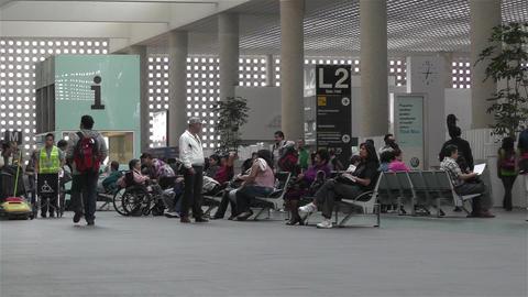 Benito Juarez Airport Domestic Terminal Mexico City 2 Stock Video Footage