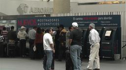 Benito Juarez Airport Domestic Terminal Mexico City 4 Stock Video Footage