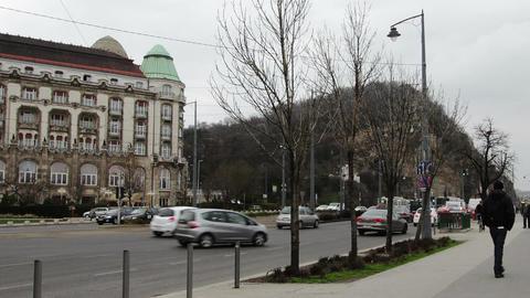 Budapest Hungary Winter Timelapse 3 Footage