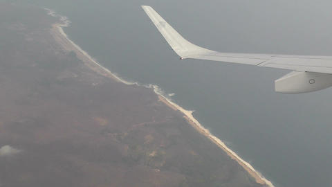 Coast of Oaxaca South Mexico aerial 1 Stock Video Footage