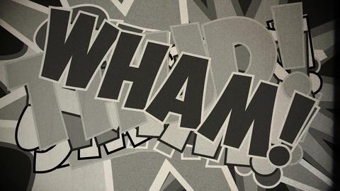 Comic Design 9 vintage Stock Video Footage