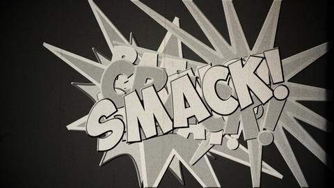 Comic Design v 3 4 vintage Stock Video Footage