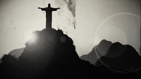 Corcovado Sunset 4 vintage Animation