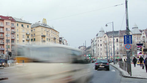 Getting Dark Budapest Hungary Winter Timelapse 2 Stock Video Footage