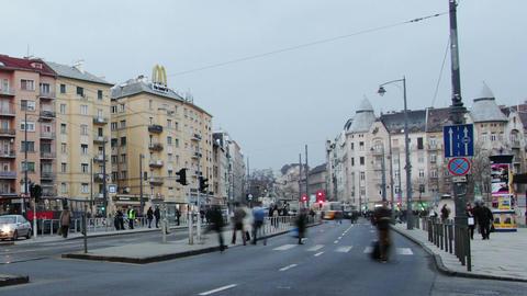 Getting Dark Budapest Hungary Winter Timelapse 2 Footage
