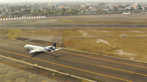 Landing in Benito Juarez Airport Mexico City Stock Video Footage