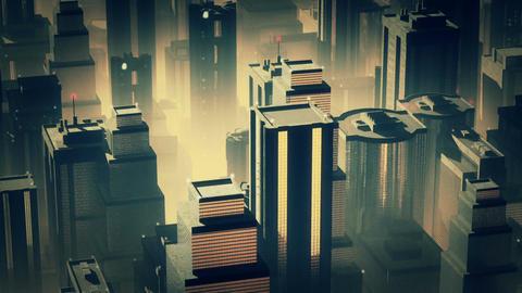 Metropolis Aerial 2 Animation