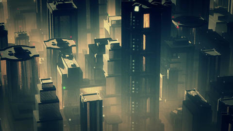 Metropolis Aerial 2 Stock Video Footage