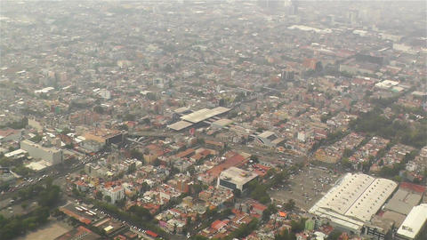Mexico City Aerial 2 Stock Video Footage