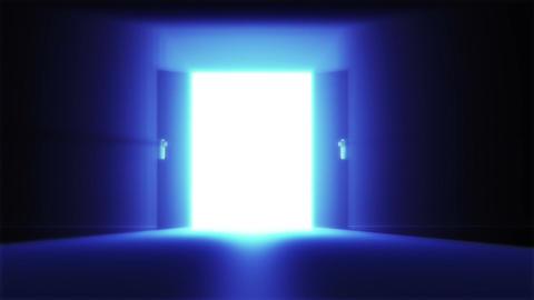 Mysterious Door 4 Stock Video Footage