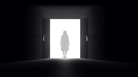 Mysterious Door 6 yurei Animation