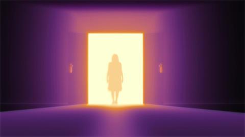 Mysterious Door 10 yurei Stock Video Footage