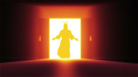 Mysterious Door 12 jesus Stock Video Footage