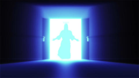 Mysterious Door 14 jesus Stock Video Footage