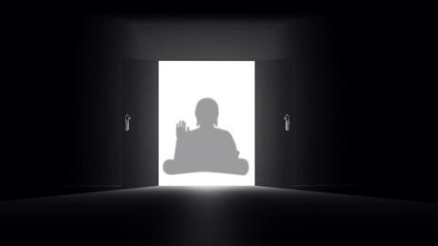 Mysterious Door 16 buddha Stock Video Footage