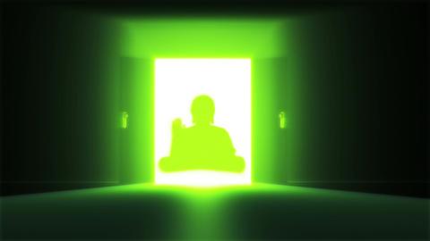 Mysterious Door 18 buddha Stock Video Footage