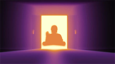 Mysterious Door 20 buddha Stock Video Footage