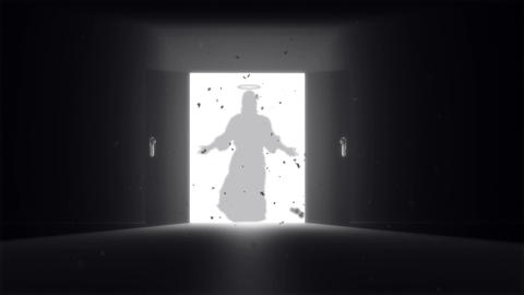 Mysterious Door v 2 6 jesus Stock Video Footage