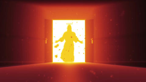 Mysterious Door v 2 7 jesus Stock Video Footage