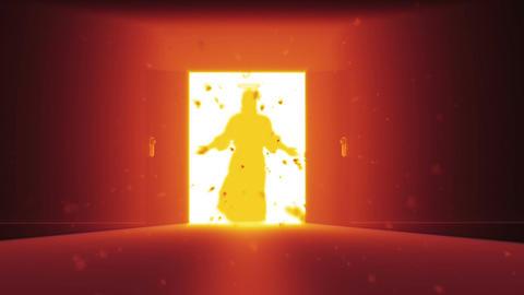 Mysterious Door v 2 7 jesus Stock Video Footage