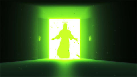 Mysterious Door v 2 8 jesus Stock Video Footage