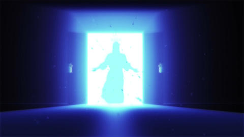 Mysterious Door v 2 9 jesus Stock Video Footage