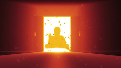 Mysterious Door v 2 11 buddha Stock Video Footage