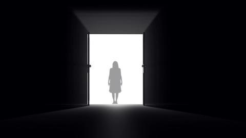 Mysterious Door v 3 6 yurei Stock Video Footage